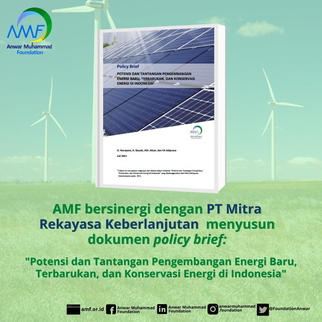 You are currently viewing Bersinergi dengan PT Mitra Rekayasa Keberlanjutan, AMF menyusun Policy Brief tentang Energi Terbarukan
